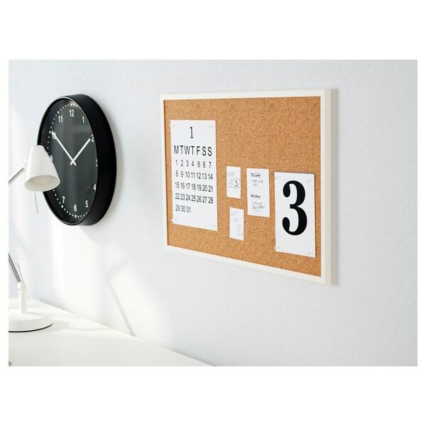 VÄGGIS Memobord met spelden, wit, 58x39 cm