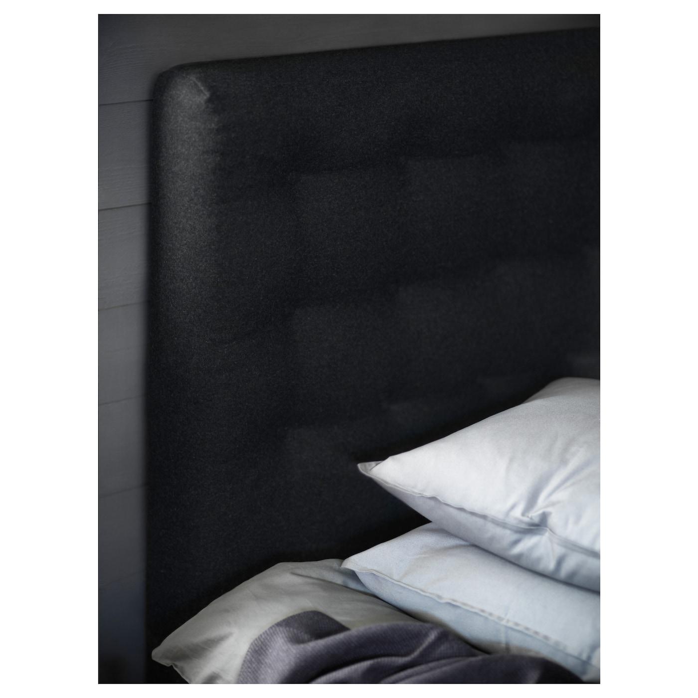 vallavik boxspring hyllestad middelhard tustna grijs 180x200 cm ikea. Black Bedroom Furniture Sets. Home Design Ideas