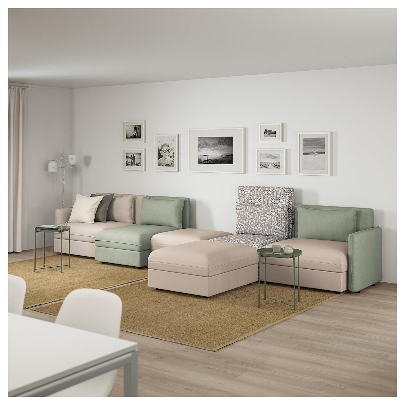 vallentuna 5 zitsbank murum beige hillared groen ikea. Black Bedroom Furniture Sets. Home Design Ideas