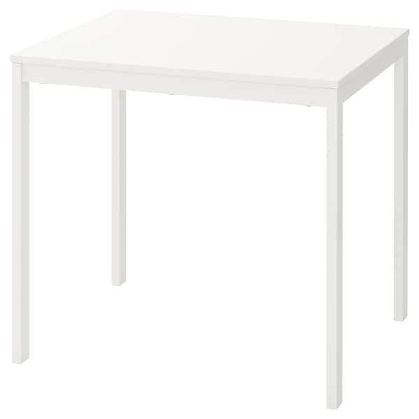 VANGSTA Uitschuifbare tafel, wit, 80/120x70 cm