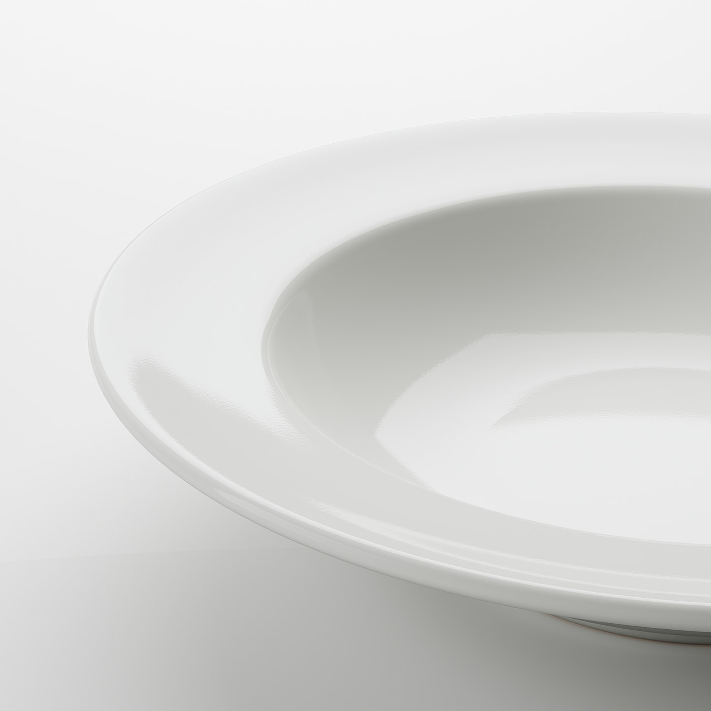 VARDAGEN Diep bord, ecru, 23 cm
