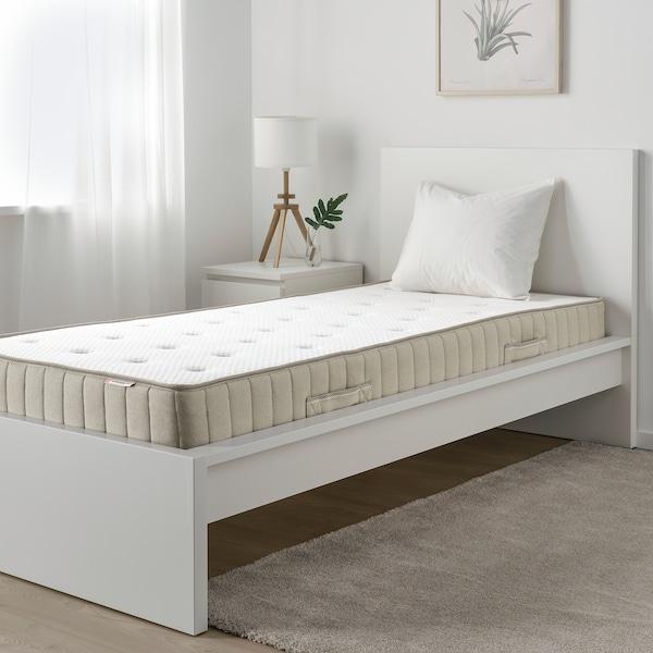 VATNESTRÖM Pocketveringmatras, stevig/naturel, 90x200 cm
