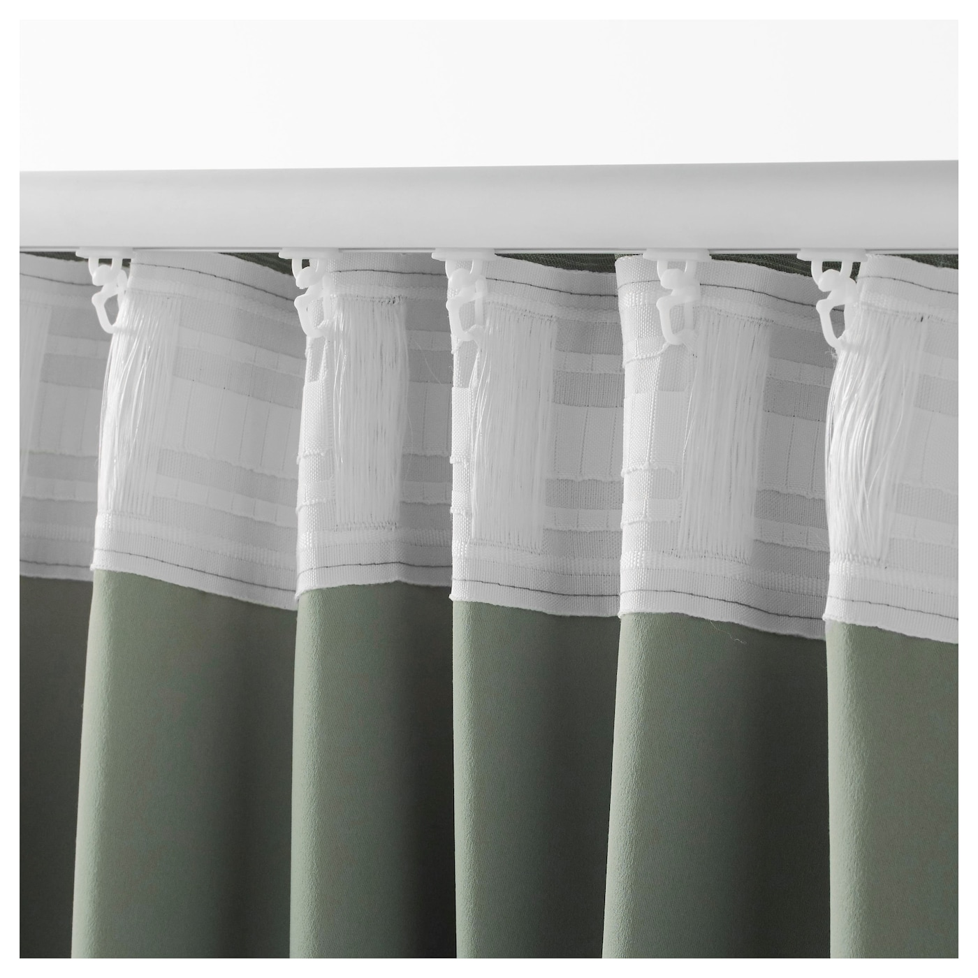 VILBORG Gordijnen, 1 paar Groen 145x300 cm - IKEA