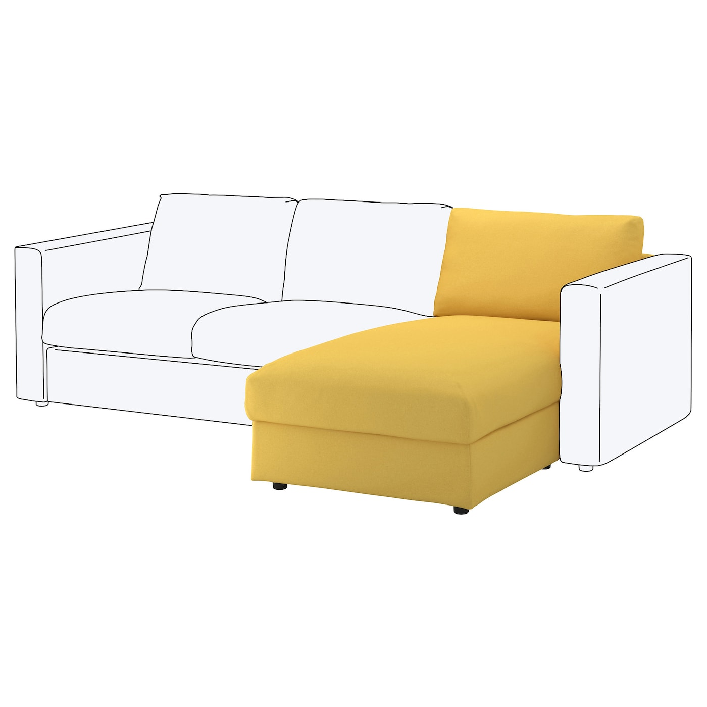 IKEA VIMLE chaise longue element