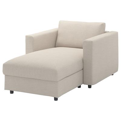 VIMLE Chaise longue, Gunnared beige