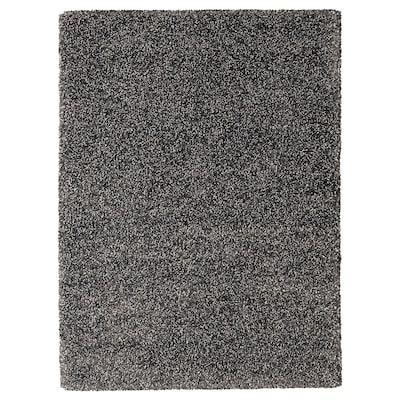 VINDUM Vloerkleed, hoogpolig, donkergrijs, 170x230 cm