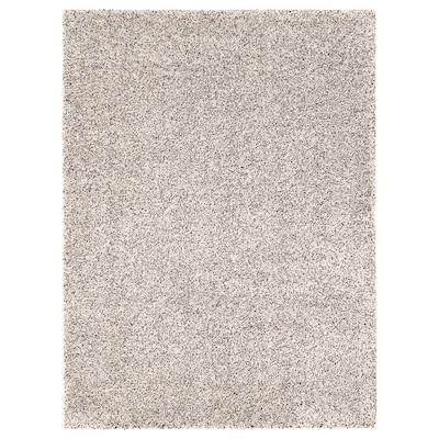 VINDUM Vloerkleed, hoogpolig, wit, 200x270 cm