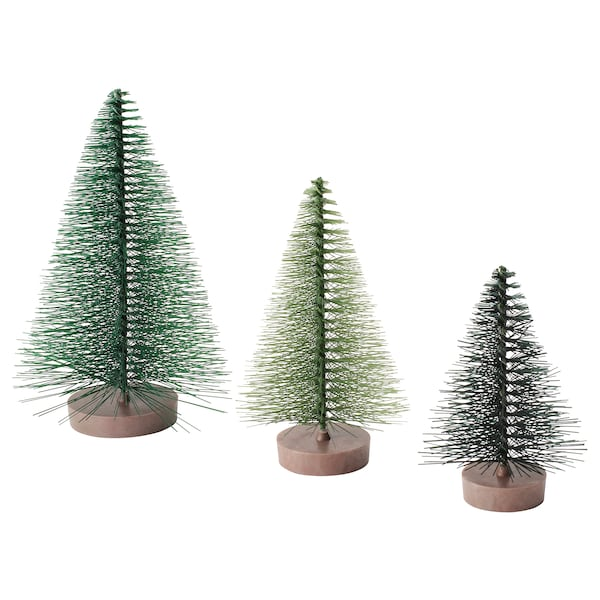 VINTER 2020 Decoratie set van 3, kerstboom groen