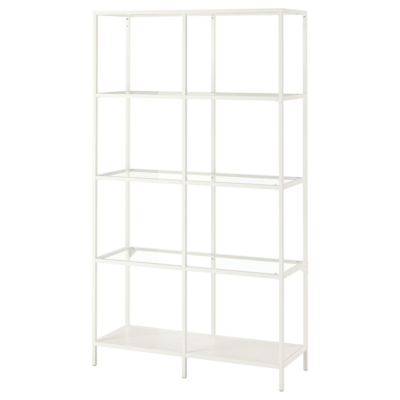 Stellingkast 25 Cm Diep.Vittsjo Stellingkast Wit Glas 100 X 175 Cm Ikea