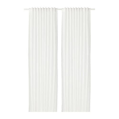 VIVAN Gordijnen, 1 paar Wit 145x300 cm - IKEA