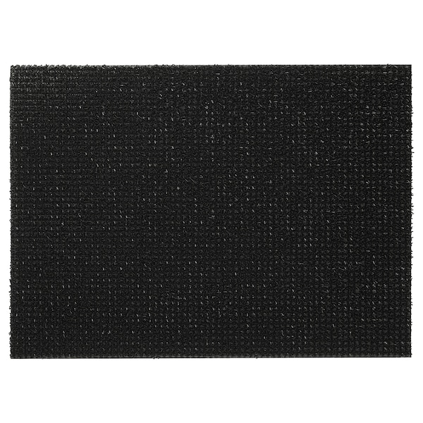 YDBY Deurmat, binnen/buiten zwart, 58x79 cm