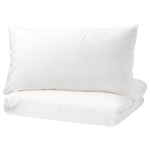 ÄNGSLILJA غطاء لحاف/2كيس مخدة أبيض 125 بوصة مربعة 2 قطعة 220 سم 240 سم 50 سم 80 سم