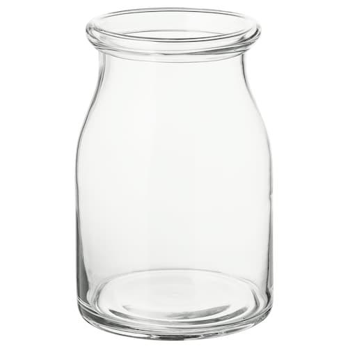 BEGÄRLIG مزهرية زجاج شفاف 29 سم 19 سم