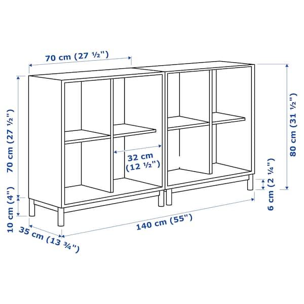 EKET تشكيلة خزانات بأرجل أبيض 70 سم 140 سم 35 سم 80 سم