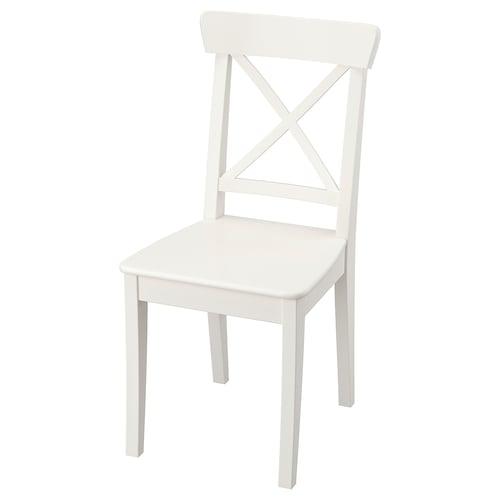 INGOLF كرسي أبيض 110 كلغ 43 سم 52 سم 91 سم 43 سم 38 سم 45 سم