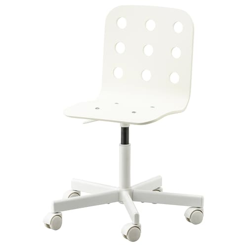 JULES كرسي مكتب أطفال أبيض 50 كلغ 58 سم 56 سم 35 سم 32 سم 37 سم 48 سم