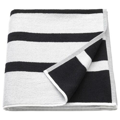 KINNEN منشفة حمّام أبيض/أسود 140 سم 70 سم 0.98 م² 500 g/m²