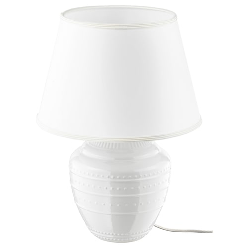 RICKARUM مصباح طاولة أبيض 13 واط 34 سم 47 سم 34 سم 11 سم 2.2 م