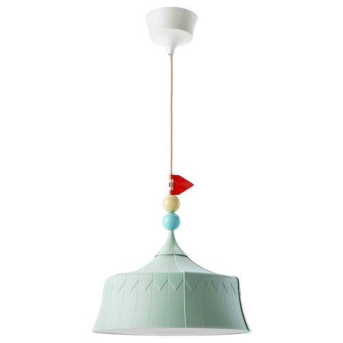 TROLLBO مصباح معلّق أخضر فاتح 13 واط 37 سم 0.5 م 4 م 1.8 م