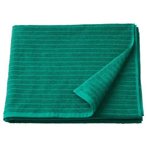 VÅGSJÖN منشفة حمّام أخضر غامق 140 سم 70 سم 0.98 م² 400 g/m²