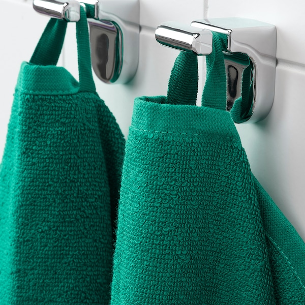VÅGSJÖN منشفة يد أخضر غامق 70 سم 40 سم 0.28 م² 400 g/m²