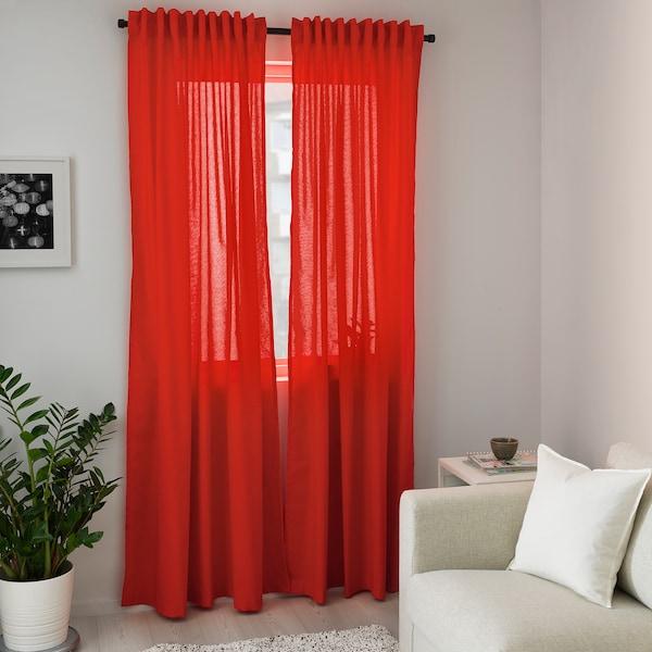 ANNALOUISA Curtains, 1 pair, red, 145x300 cm