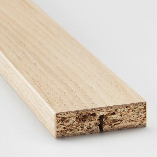 ASKERSUND Rounded deco strip/moulding, light ash effect, 221 cm
