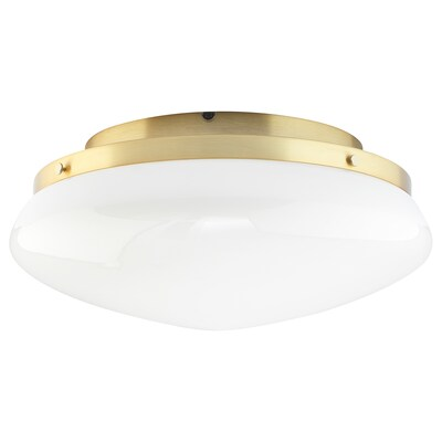 ÅTERSKEN Ceiling lamp, opal white glass