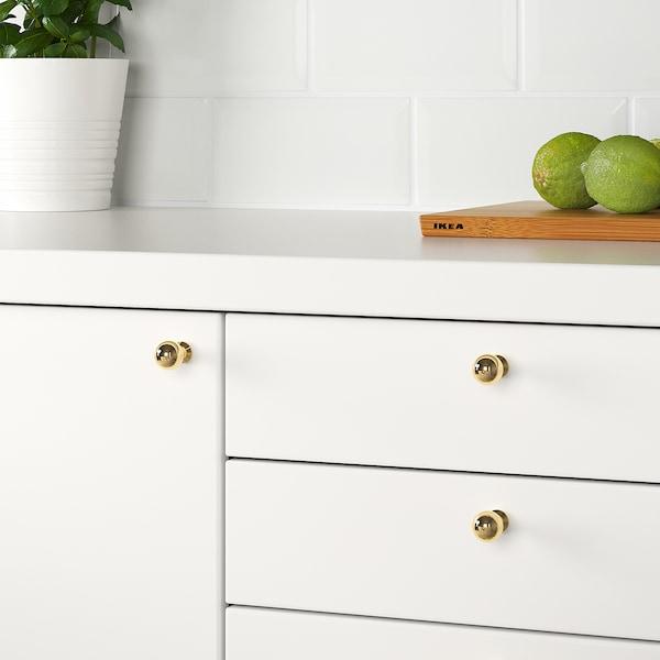 BAGGANÄS Knob, brass-colour, 20 mm