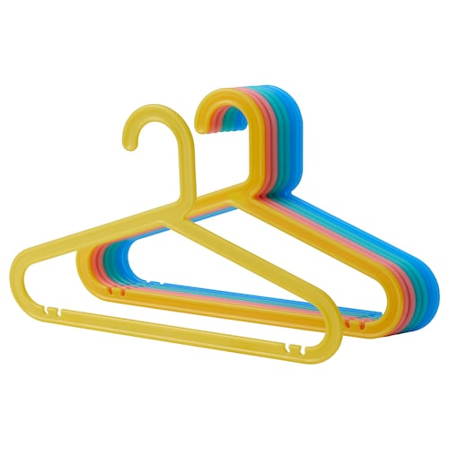 BAGIS children's coat-hanger mixed colours 8 pack