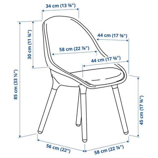 BALTSAR كرسي, رمادي فاتح/بني