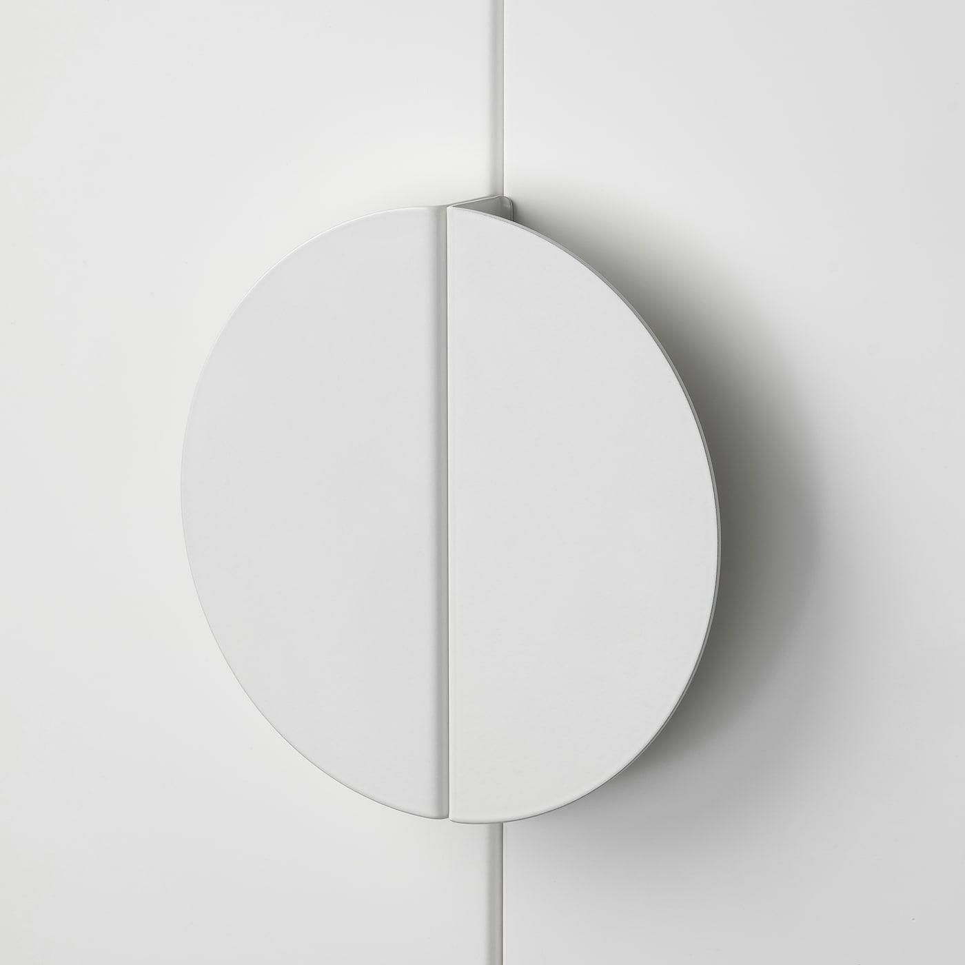 BEGRIPA مقبض, أبيض/نصف-دائرة, 130 مم