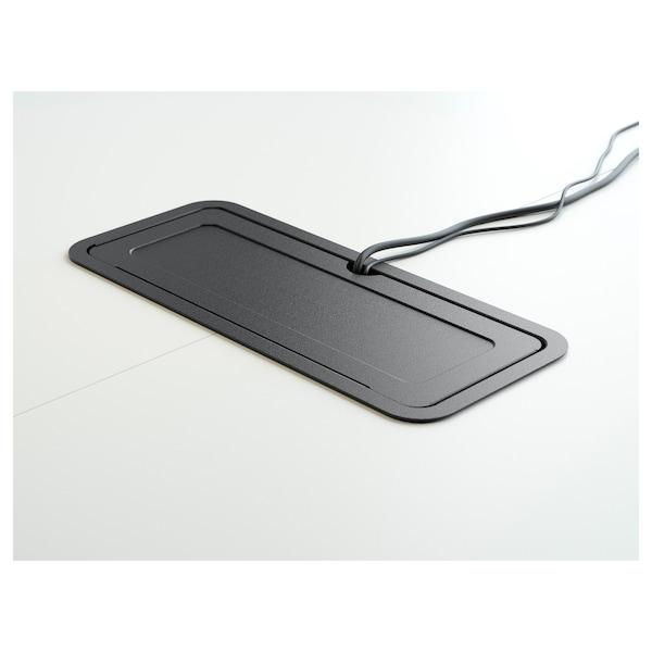 BEKANT Conference table, white/black, 280x140 cm