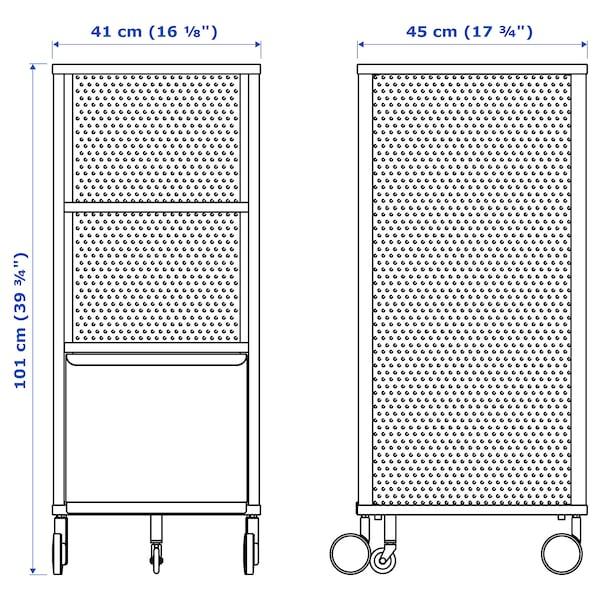 BEKANT storage unit with smart lock mesh white 41 cm 45 cm 101 cm