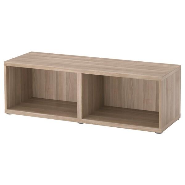 BESTÅ Frame, grey stained walnut effect, 120x40x38 cm