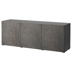 Colour: Black-brown kallviken/dark grey concrete effect.