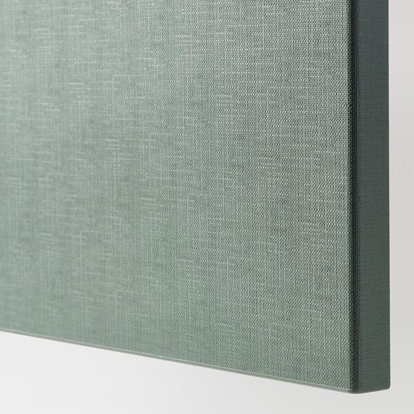 BESTÅ Storage combination with doors, black-brown/Notviken grey-green, 120x42x65 cm