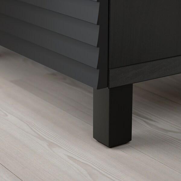 BESTÅ storage combination with doors black-brown/Stockviken/Stubbarp anthracite 180 cm 42 cm 74 cm