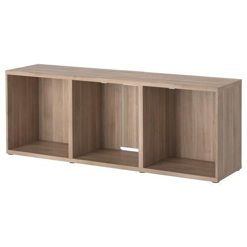 BESTÅ TV bench grey stained walnut effect 180 cm 40 cm 64 cm 50 kg