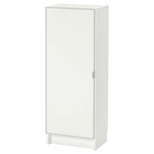 BILLY / MORLIDEN bookcase with glass door white/glass 40 cm 30 cm 106 cm 14 kg