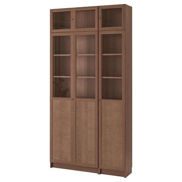 BILLY / OXBERG bookcase brown ash veneer 120 cm 30 cm 237 cm 30 kg