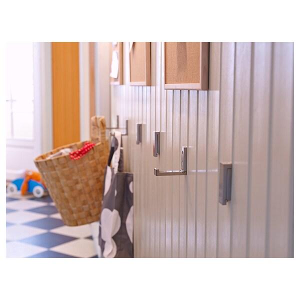 BJÄRNUM Folding hook, aluminium, 8 cm