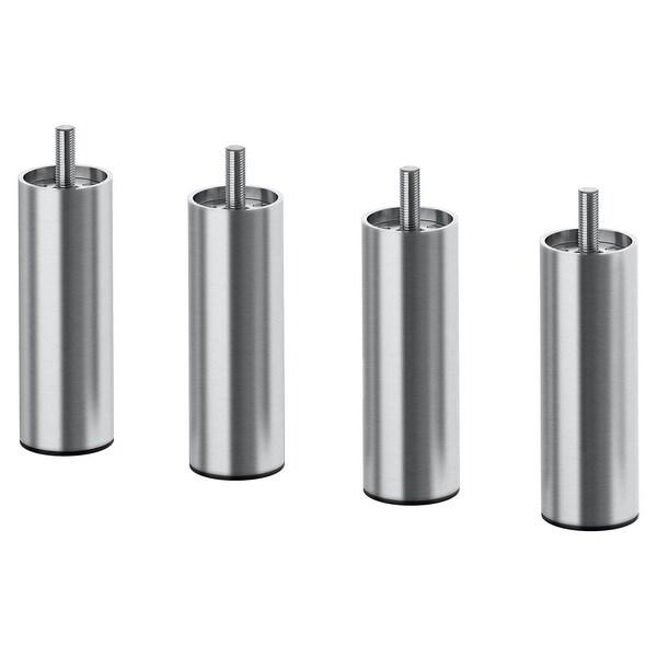 BJORLI Leg, stainless steel, 10 cm