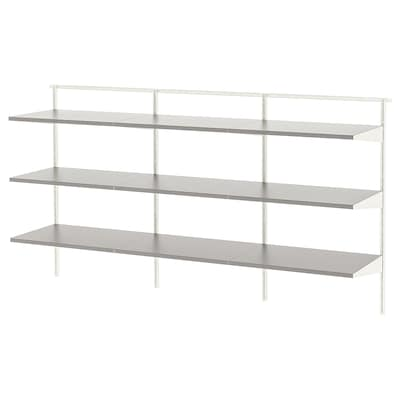 BOAXEL 3 sections, white/grey, 182x40x101 cm