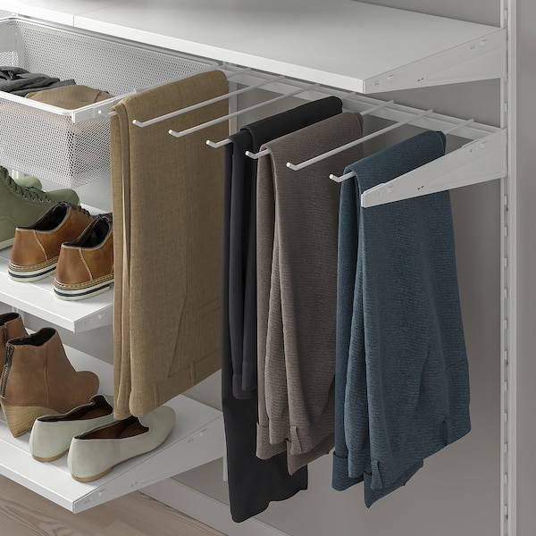 BOAXEL تشكيلة خزانة ملابس., أبيض, 125x40x201 سم