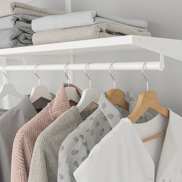 BOAXEL تشكيلة خزانة ملابس., أبيض, 250x40x201 سم