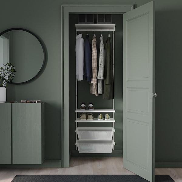 BOAXEL تشكيلة خزانة ملابس., أبيض, 62x40x201 سم