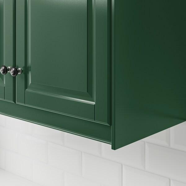BODBYN Contoured deco strip/moulding, dark green, 221 cm