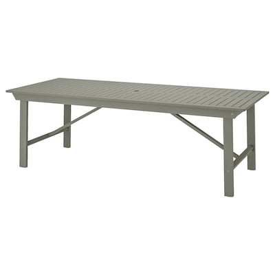 BONDHOLMEN Table, outdoor, grey, 235x90 cm