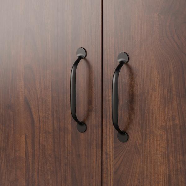 BRUSALI Cabinet with doors, brown, 80x93 cm